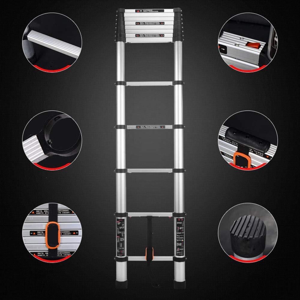 XC Multifuncional Escaleras telescópicas- Escalera Telescópica, Gruesa De Aleación De Aluminio De Múltiples Funciones Plegable General Perfil Del Hogar, Sin Fisuras De Aluminio Tubo Estable (1,9 M-3,8: Amazon.es: Bricolaje y herramientas