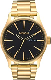 NIXON Sentry SS A356-100m Water Resistant Men's Analog Classic Watch (42mm Watch Face, 23mm-20mm Stainless Steel Band)
