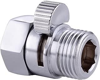 KES Shut Off Valve Brass Shower Head Valve with Handle Lever G1/2 Water Flow Control Valve Regulator Chrome, K1140B-CH