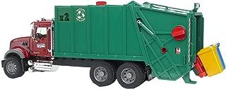 Bruder 02812 Mack Granite Rear Loading Garbage Truck (Ruby Red Green)