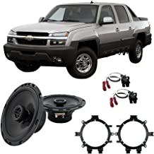 Compatible with Chevy Avalanche 2002-2006 Front Door Replacement HA-R5 Speakers New