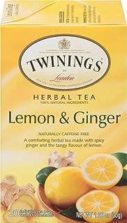 Twinings of London Lemon & Ginger Herbal Tea, 20 Count (Pack of 6)