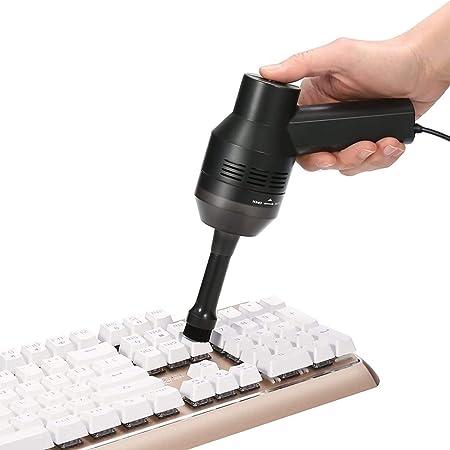 MECO ELEVERDE Mini Aspirateur USB avec Brosse avec Gel Nettoyant Clavier Aspirateur USB Réutilisable Nettoyage pour Ordinateur/Clavier de Jeu Mécanique/Boîtiers Satellite TV/DVD (Prise USB)