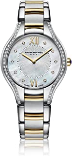 Noemia Mother of Pearl Diamond Dial Two Tone Stainless Steel Ladies Watch
