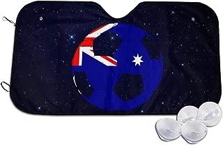 A10U-ZYZ Windshield Sun Shade Australian Flag Football Soccer Funny Visor Car Sunshade Universal 51.2x27.5 Inch,55x30 Inch for Cars SUV Truck,Block The Sun,Protects Interior Cool