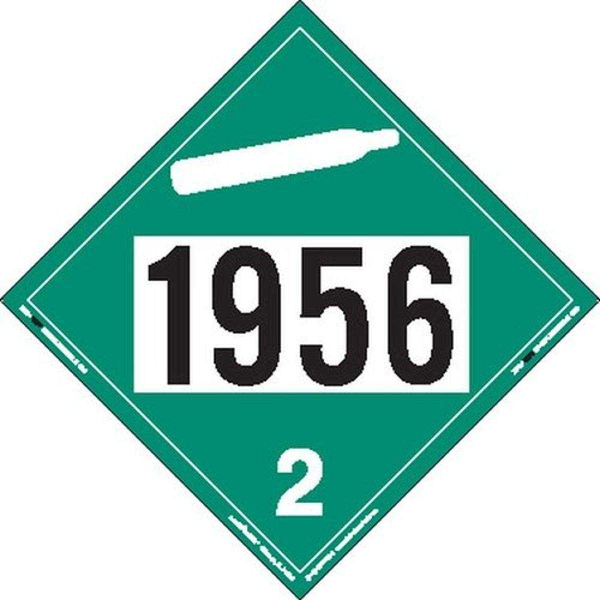 Labelmaster ZVR31956 UN 1956 Non-Flammable R Gas Discount mail order Hazmat Placard Ranking TOP11