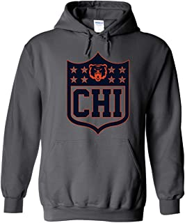 America's Finest Apparel Chicago Football Shield Hoodie