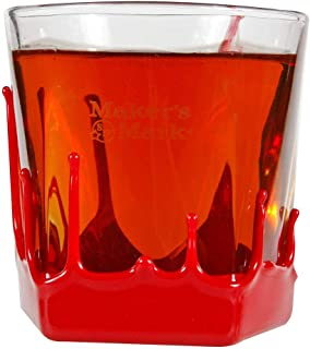Maker's Mark Whisky Bourbon Red Wax Drips 9 Oz. On The Rocks Glass