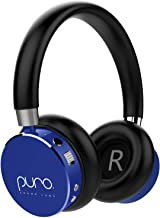 Puro Sound Labs BT2200 Volume Limited Kids' Bluetooth Headphones – Safer Headphones for Kids – Lightweight & Durable – Studio-Grade Audio Quality & Noise Isolation –Carrying Case (Blue)