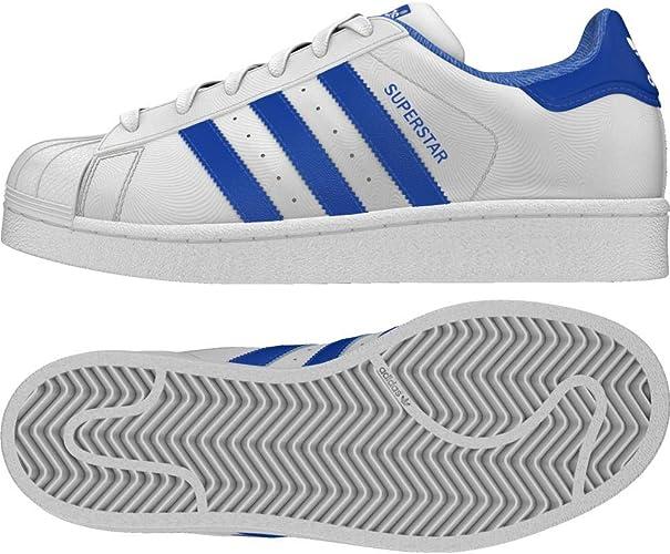 Adidas Superstar J Basket Mode Enfants - Blanc (Ftwbla/Azul/Reauni ...
