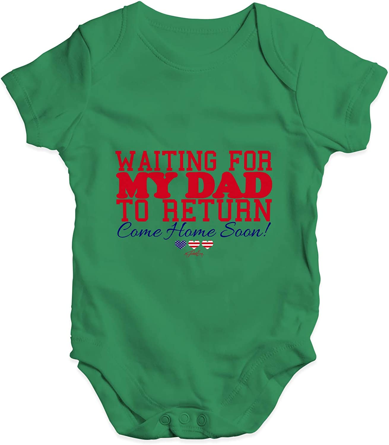 TWISTED ENVY Waiting for My Dad to Return Baby Unisex Funny Baby Grow Bodysuit