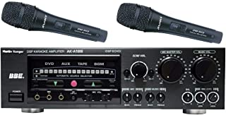 AKA188 1000W DSP Echo AV with BBE Engine Processor Karaoke Amplifier with Two Wired Microphone DM909 (Made in Taiwan)