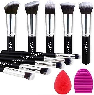 BEAKEY Makeup Brush Set Premium Synthetic Kabuki Foundation Face Powder Blush Eyeshadow Brushes Makeup Brush Kit with Blen...