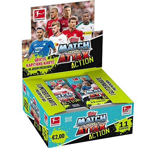 CAGO Unbekannt Topps Match Attax Action 2018/19 - 1 Display (20 Booster) - Deutsch