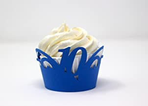 All About Details 10 Cupcake Wrappers,12pcs (Blue)