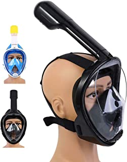 SEVICH Full Face Snorkel Mask - 180° Panoramic View Diving Mask with Breathing System Pipe & Detachable Camera Mount, Anti Fog & Anti Leak Snorkeling Package for Adults and Kid