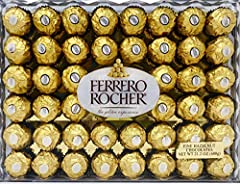 One gift box contains a single layer of 48 Ferrero Rocher Fine Hazelnut Chocolates. Rocher chocolates are a tempting combination of luscious, creamy, chocolaty filling surrounding a whole hazelnut, within a delicate, crisp wafer...all enveloped in mi...