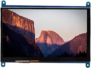 Denash Pantalla táctil capacitiva IPS de 7 Pulgadas para Raspberry Pi, LCD HDMI 1024x600 Pantalla de visualización Ultra H...