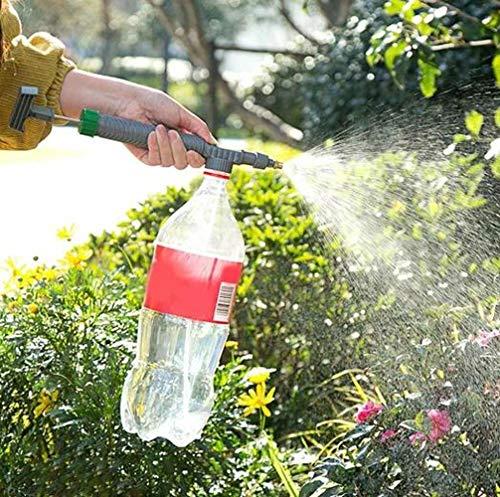 WEKOW Rociador Manual De Bomba De Aire De Alta Presión Portátil, Botella De Bebida Ajustable, Boquilla De Cabezal De Rociado, Herramienta De Riego De Jardín