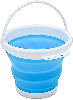 con manico contenitore per lavaggio auto 5 litri Buyfunny01 Secchio pieghevole in silicone da viaggio portatile per il bagno quadrato e ispessito per campeggio pesca allaperto multifunzione