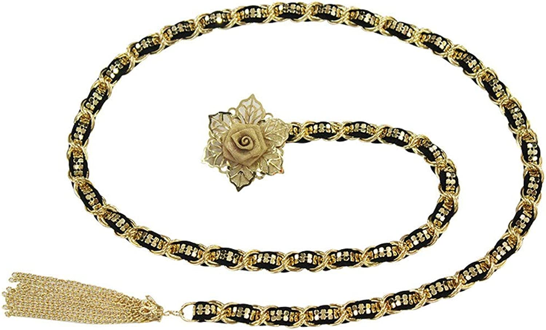 Rcnry Waist Belt, Female Flower Simple Retro Decoration, Metal Waist Belt Waist Chain