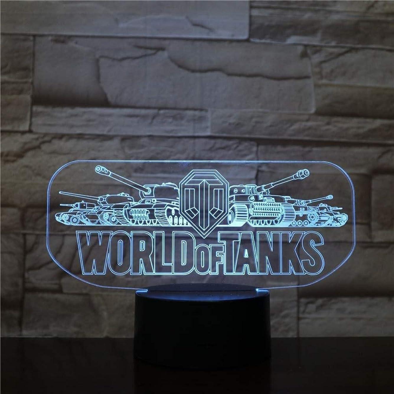 まつげやさしくバクテリアタンクの3Dイリュージョンの世界は、ランプタッチセンサー7色のランプベッドルームベッドサイドアクリル装飾的なデスクランプキッズフェスティバル誕生日ギフトUSBの充電をLED