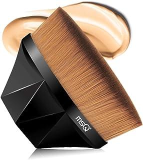 MSQ ファンデーション ブラシ 人気 メイクブラシ 多機能 メイク 筆 高級繊維毛 超柔らかい クイックメイク 携帯便利 化粧筆 (黒)