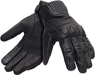 Royal Enfield Vintage Black Leather Protective Riding Gloves for Men (RRGGLJ000022)