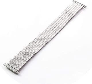 Women Men Silver Stainless Steel Flexible Expansion Stretch Watchband Watch Band Strap Bracelet 16 22 MM Adjustable Link