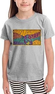 Children's Boys Girls Jjimi Hendrix Printing T Shirts Black 100% Cotton Top Tee