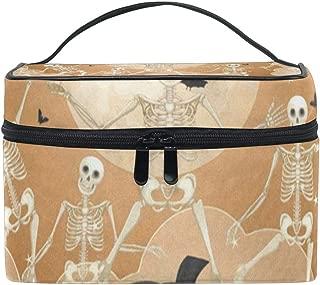 Makeup Bag Halloween Pattern Pumpkin Cosmetic Bag Portable Large Toiletry Bag for Women/Girls Travel
