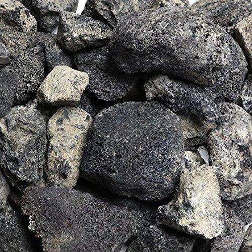 溶岩石 ミックスブラック 50-100mm 約12kg