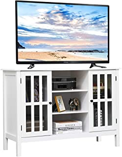 Tangkula TV Stand, Classic Design Wood Storage Console Free Standing Cabinet for TV up to..