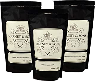 Harney & Sons Hot Cinnamon Spice Sachet Sampler, 3 varieties, 150 sachets