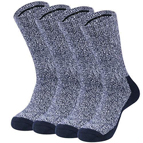 Loritta 2 Pack 80% Merino Wool Socks for Men, Womens Winter Athletic Hiking Socks Thermal Outdoor Sports Warm Socks for Cold Weather