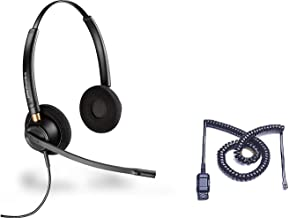 Cisco Certified Plantronics HW520 EncorePro 520 Noise Canceling Direct Connect Compatible Headset Bundle