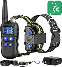 FunniPets Dog Training Collar, with Walkie-Talkie Function 2020 Upgraded Voice Training Collar for Dogs 2600ft Range Waterproof Dog Training Collar with Remote, 4 Training Modes