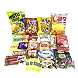 33 Korean snack box for Gift, Gift package, Snack Sampler , Korean Chips and Candies, Coffee and Teas, Treats for Kids, Children, College Students, turtle chips, corn chips
