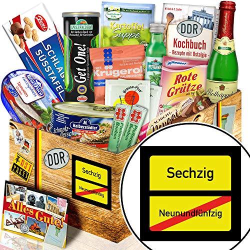 Ortsschild 60 / Geschenke zum 60ten Geburtstag / Spezialitätengeschenk DDR