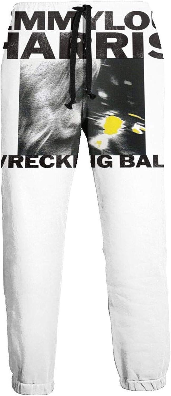 Wrecking Ball Long Pants Mens Jogger Sweatpants Personality Drawstring Waist Trousers with Pockets