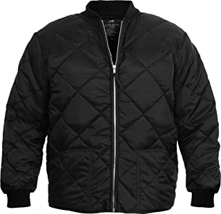 P03 Sporting Clothing New Black Military Nylon Diamond Quilted Flight Jacket