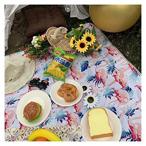 OH 2M * 1.5M Mat de Picnic Al Aire Libre Camping Picnic Mat Impermeable Picnic Mats Matters Colchoneta Camping Mats Play Mats Plaid Manta, Manta de Picnic profesional/Flamigo / 15