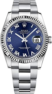 Rolex Datejust 36 116234 Blue Dial with Roman Numerals & Oyster Bracelet