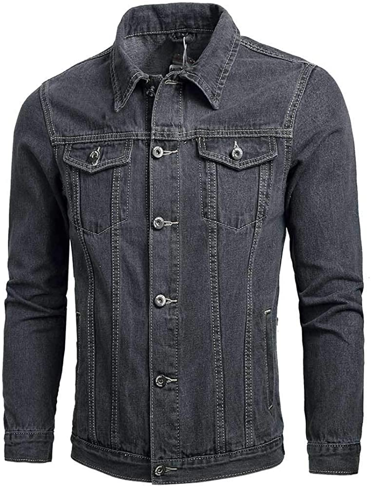 SPE969 Over item Sale Special Price handling Men's Patterned Letter Denim Winter Jacket Autumn Casual