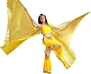 Nimiman Belly Dance 360 Degree Opening Isis Wings with Portable Flexible Sticks