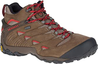 Merrell Men's Chameleon 7 Mid Waterproof Hiking Shoes (Boulder)