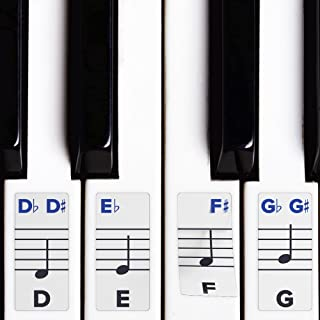 Piano Stickers for Keys – Removable w/Double Layer Coating