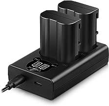 EN-EL15 /EL15a Replacement Battery (2 Pack) and Smart LED Dual Charger Kit for Nikon EN-EL15/15a and Compatible with Nikon Z6,Z7,D500, D600, D610, D750, D800, D800e, D810, D810a, D850, D7000, D7100,…