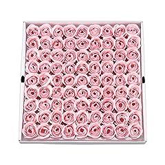 Idea Regalo - Weiye Sapone a forma di rosa, sapone profumato ai fiori, sapone con olio essenziale della pianta, regalo per anniversario, compleanno, matrimonio, San Valentino, 81 pezzi rosa chiaro