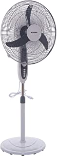 Costway 18-Inch Pedestal Fan 3-Speed Oscillating Stand w/ Manual Control Timer
